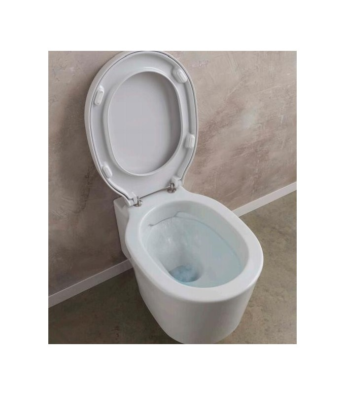 clean flush wc cuvette suspendue bucket scarabeo pour sanitaires. Black Bedroom Furniture Sets. Home Design Ideas