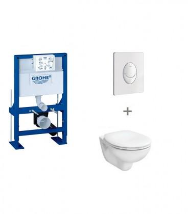 Pack WC suspendu hauteur réduite