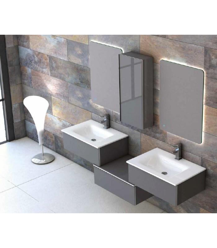 meuble suspendu salle de bain duo 175 coycama pour sanitaires. Black Bedroom Furniture Sets. Home Design Ideas