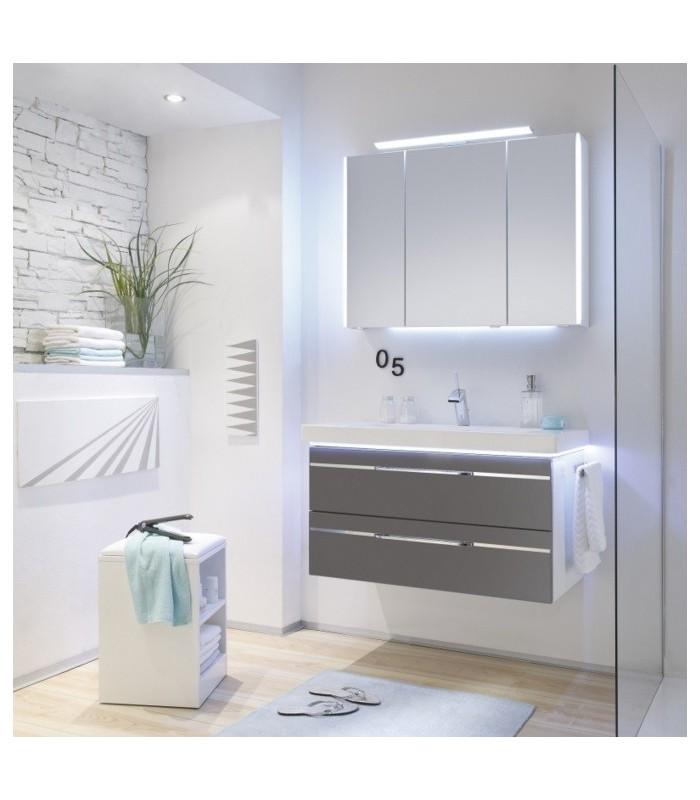 Meuble suspendu salle de bain balto 92 4 pelipal france - Meubles salle de bain suspendu ...