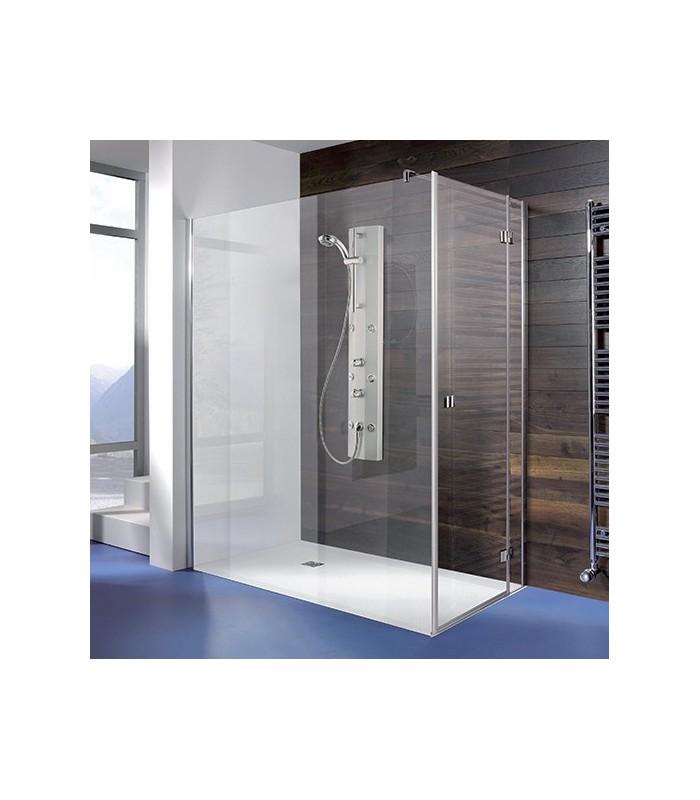 Espira paroi fixe avec porte pivotante breuer pour sanitaires - Porte de douche avec paroi fixe ...