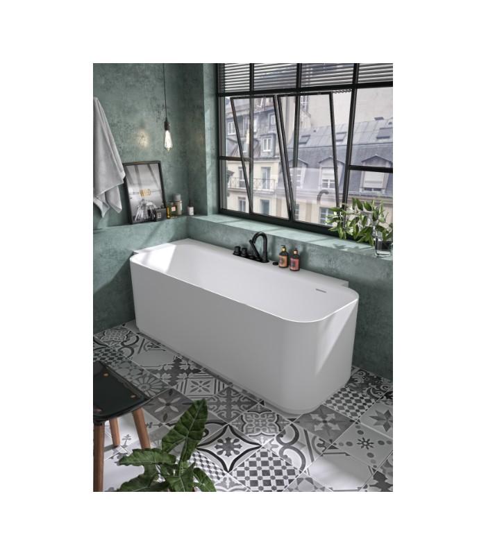 Baignoire En Ilot Luvia Aquarine Angle Gauche Solid Surface Mat Banyo