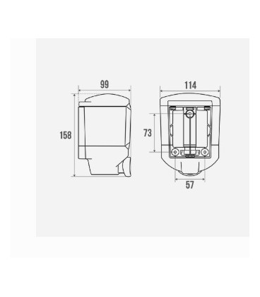 Distributeur savon liquide ABS 450 ml