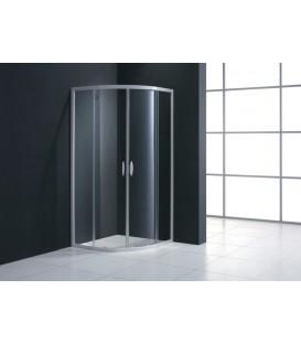 Paroi de douche 1/4 de cercle MEZZO extensible en verre transparent