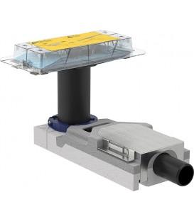 Canivelle de douche Kit gros-oeuvre Cleanline hauteur 90-220mm sortie horizontale