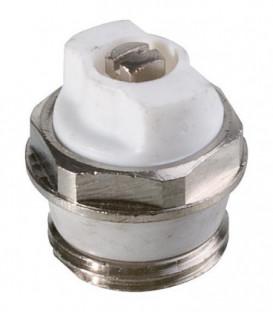 """Soupape de purge d´air rotative en laiton nickelé, filetage 1/2"""" joint conique en silicone"""