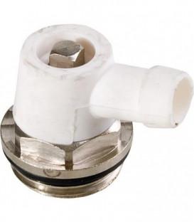 Robinet de vidange 3/8'' laiton nickele joint EPDM, joint rotatif en silicone
