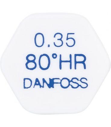 Gicleur Danfoss 0,85/80°HR laiton tête ronde