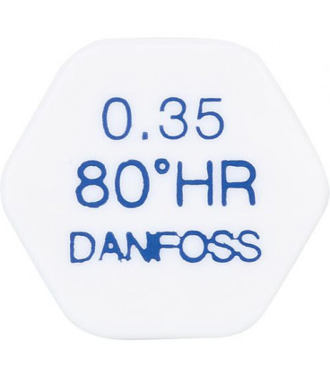Gicleur Danfoss 0,65/80°HR laiton tête ronde