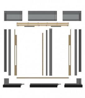Kit de montage de base pour toit encastre pour collecteurs 2 SX 2,0