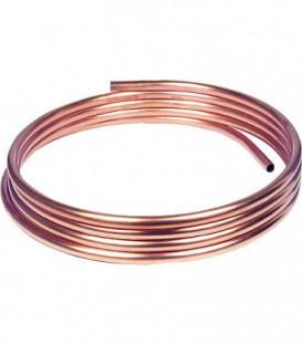 Tube d installation en cuivre souple en couronne 50 m- 8 x 1,0 mm RAL/DVGW, DIN-EN 1057