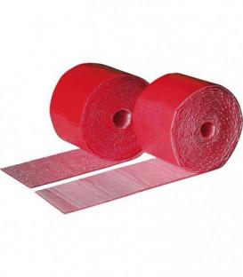 Bande PE rouge 2 mm x 3,6 m 70 mm de large