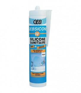 Mastic silicone Gebsicone W type Acetoxy cartouche 310 ml - blanc