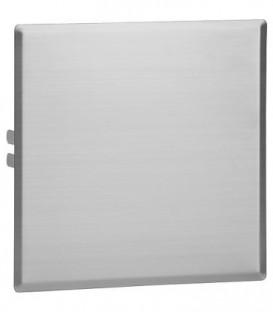 Plaque de recouvrement inox brossé mat, 280x280mm