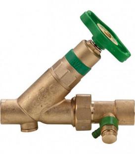 Soupape KFR avec vis de controle avec vidage, broche non montante 1675 connexion soudee 15 mm