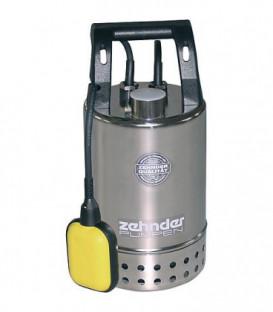 """Pompe d'immersion pour eaux sale inox 11/4"""" fil fem, 230 V, Fördermenge 8,5 m³/h dim du grain 10 mm/ inox E-ZWM 65A"""