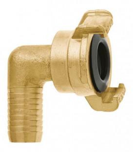 """GEKA plus section de tube coude """"2000"""" 90°, 3/4""""-19mm, MS, pivotant"""