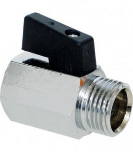 """Mini vanne boisseau spherique type 405 - 1/4"""" PL2"""" fem/male - levier court"""