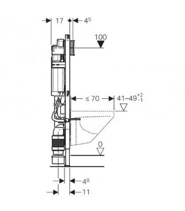 Bâti-support Duofix Sigma Hauteur de cuvette réglable