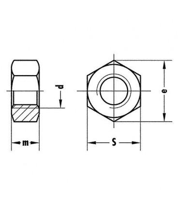 Ecrou hexagonal A2 DIN 934 M 10, UE 100 pcs