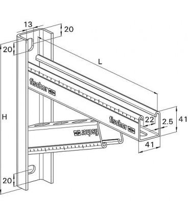 Console FCAM-400 pour rail de montage FUS profilé 41/2,5 L 400mm 1 pièce