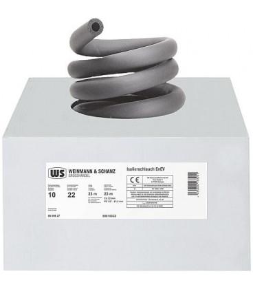 Calorifuge HT caout diam int 28mm épaisseur 10 mm emballage 1 carton 18m