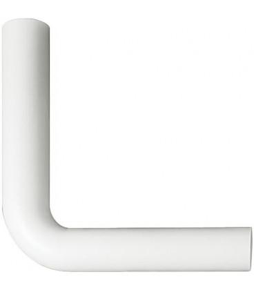 Tube de chasse d'eau coude h 230xl 230 blanc