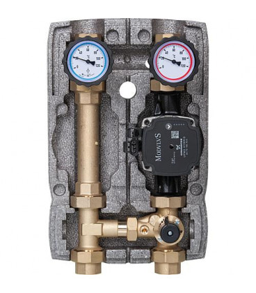 Kit de circuit de chauffage Easyflow DN25 Circulateur 3 voies Grundfos UPM 3 Hybride 25-70