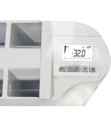 Radiateur aluminium electrique AL ADVANCE GDSM 1509 1500 Watt, RAL 9010