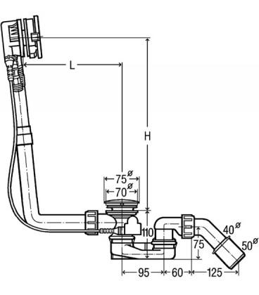 Vidage de baignoire Multiplex Trio MT5