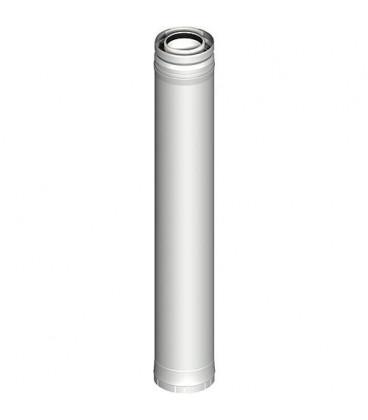 Systeme gaz d'echappement plastique Element tube 270 mm DN 080/125