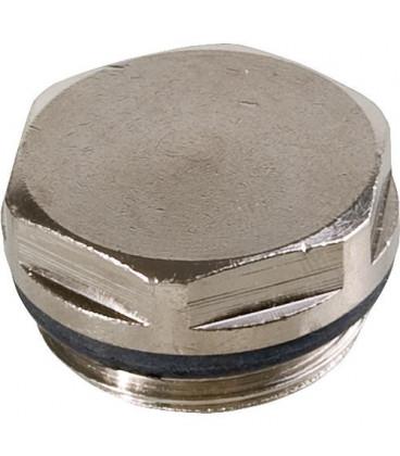 Bouchons d'obturation en laiton nickelE avec joint EPDM. Filetage 3/4''
