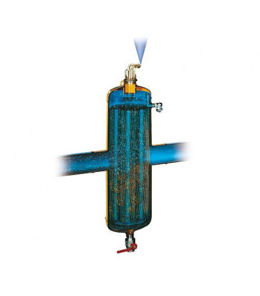 """Dégazeur et désemboueur spirocombi avec aimant MB3 DN32 (11/4"""") fem, 110°C, 10 bar"""