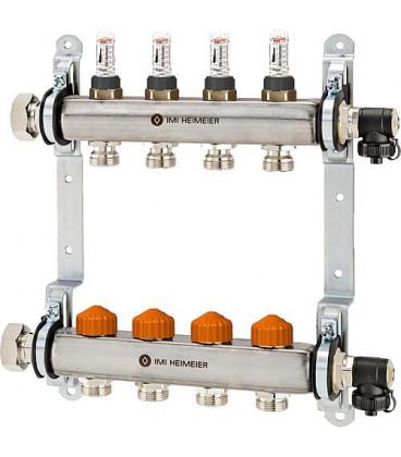 collecteur de plancher chauffant inox type Dynacon 4 circuits