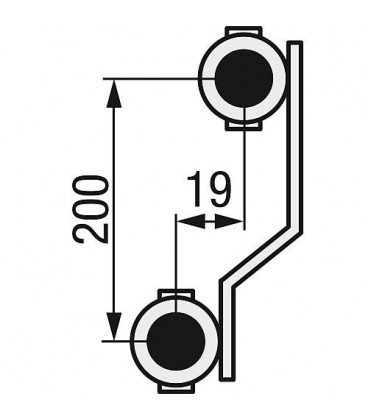 "Distributeur de chauffage WS 12 groupes type e-class 5312 Ecrou 1"" rotation libre"