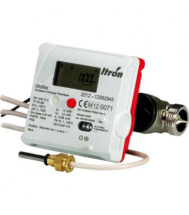 Compteur thermique Ultramax ITRON DN15, fileté 20x27, sonde ultrason - immersion directe Mbus