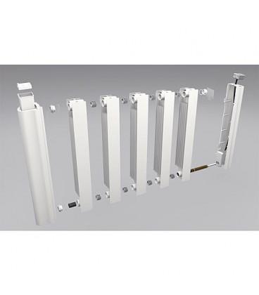 Radiateur electrique aluminium eBlitz GD 5810, 1000 Watt, RAL 9010