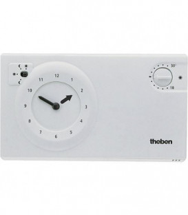 Theben thermostat a horloge RAM 722 S blanche Programme 24 heures
