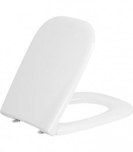 Abattant WC Duravit D-Code sans softclose charniere inox, blanc