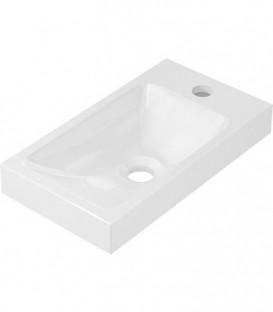 Vasque en saillie 'LENA' fonte minérale blanc 400x91x220 mm