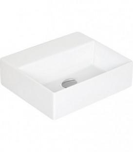 Vasque Elayla sans trou robinet en ceramique, blanc 350x130x350 mm