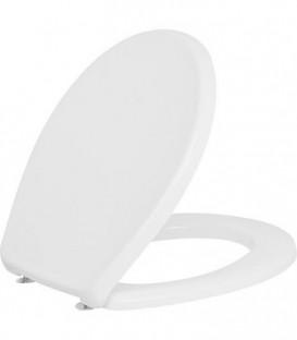Abattant WC NEMO blanc duroplast - charniere inox lxHxP : 383x49x460 mm