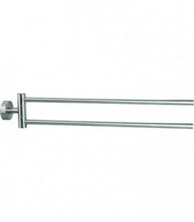 Porte-serviette Axial 2 bras, saillie 500mm avec fixation