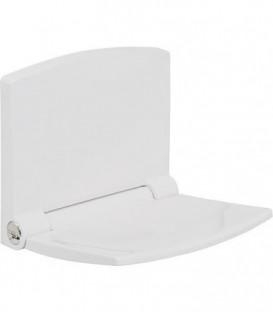 Siege douche Lifestyle plastique blanc, avec abaissement automatique