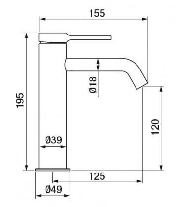 Mitigeur lavabo Time Male XL