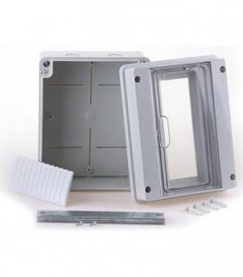 Petit répartiteur gris, 1x10 automates Lxhxp : 232x182x109 mm
