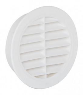 Grille d'aeration ronde avec avec moustiquaire 175 mm, blanc