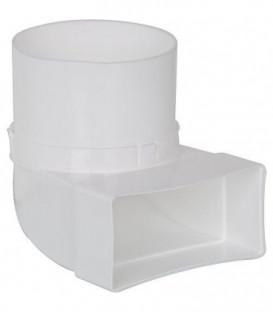 Raccord de derivation FLÜB 100 diam. 100 mm 90° sur 100 x 50 mm plastique blanc