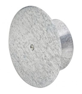 Trappe de visite aluminium brossé, réglable de 100-145 mm
