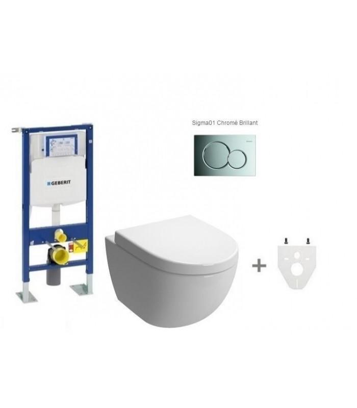 pack wc suspendu geberit daily 39 o 2 mod le court geberit pour sanitaires. Black Bedroom Furniture Sets. Home Design Ideas
